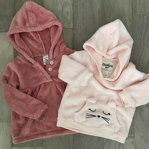 Fleece sweatshirt bundle 12-18M and 24M